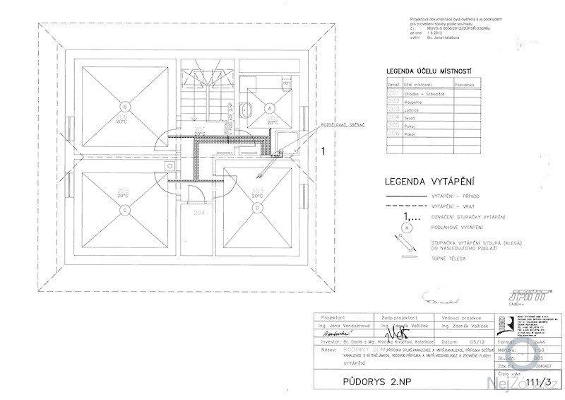 Dodávka a montáž systému podlahového vytápění: vyt_pudorys_np2