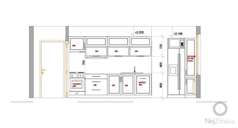 Kuchyňská linka do panelového bytu: kuchyn_pohled