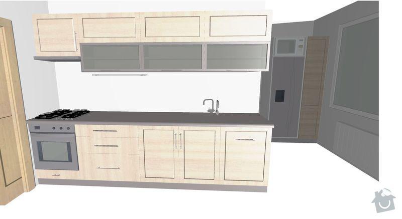 Kuchyňská linka do panelového bytu: rekonstrukce_kuch1_1