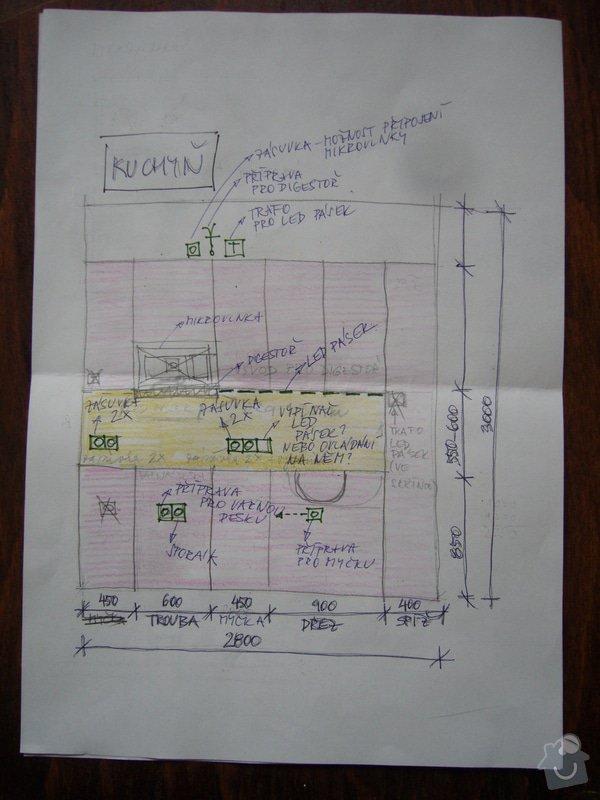 Rekonstrukce elektroinstalací v bytě: ele2