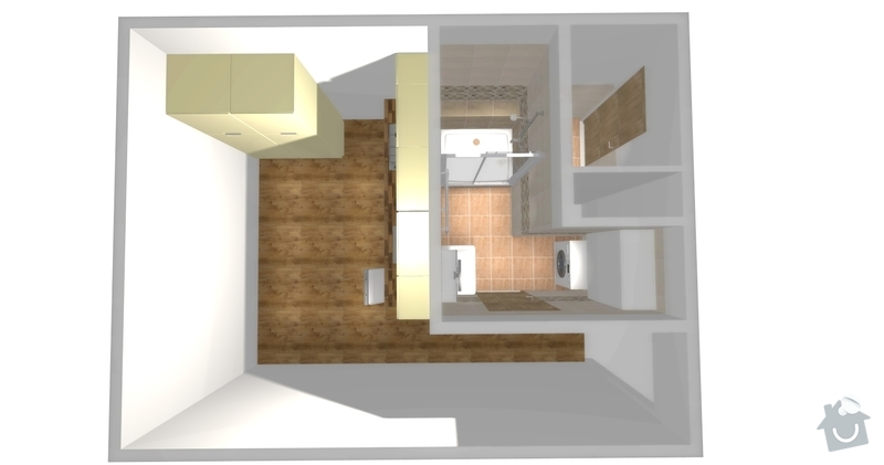 Rekonstrukce bytoveho jadra: pohled1