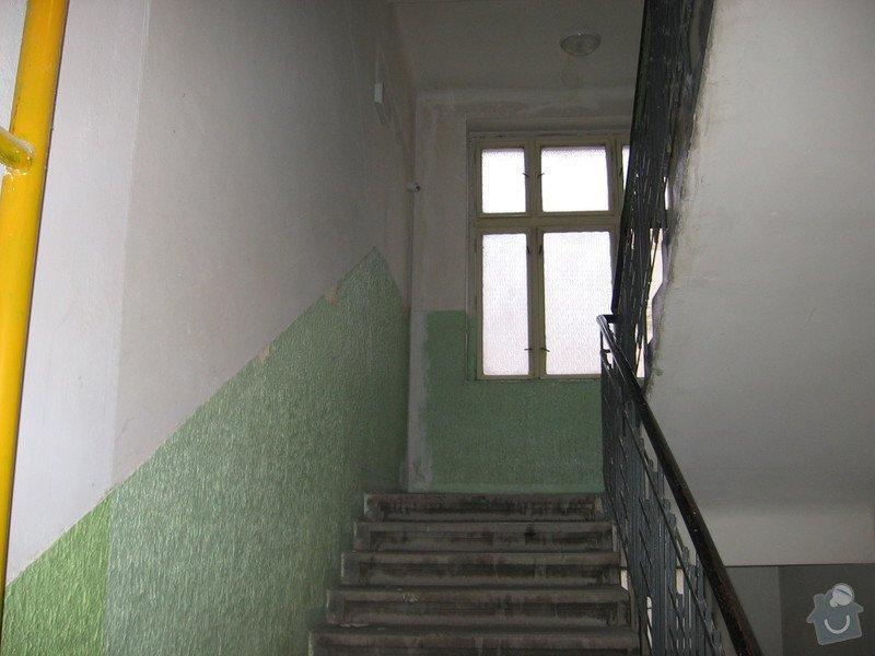 Výmalba a renovace zábradlí schodiště: 001