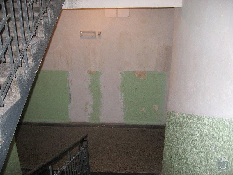 Výmalba a renovace zábradlí schodiště: 004