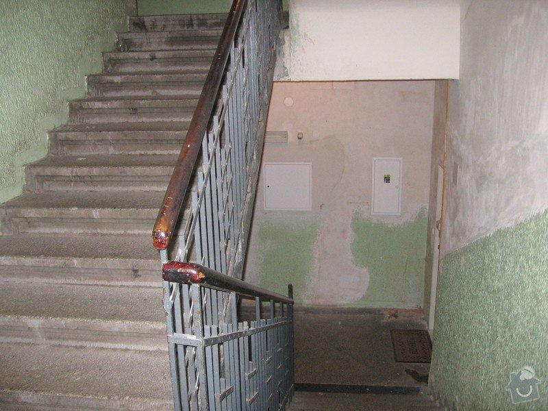 Výmalba a renovace zábradlí schodiště: 007