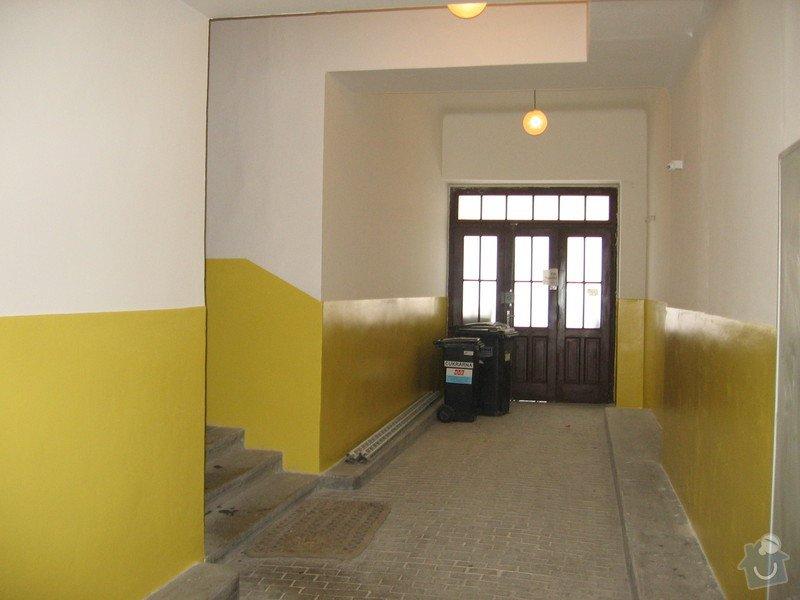 Výmalba a renovace zábradlí schodiště: 082