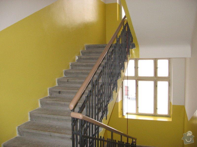 Výmalba a renovace zábradlí schodiště: 078