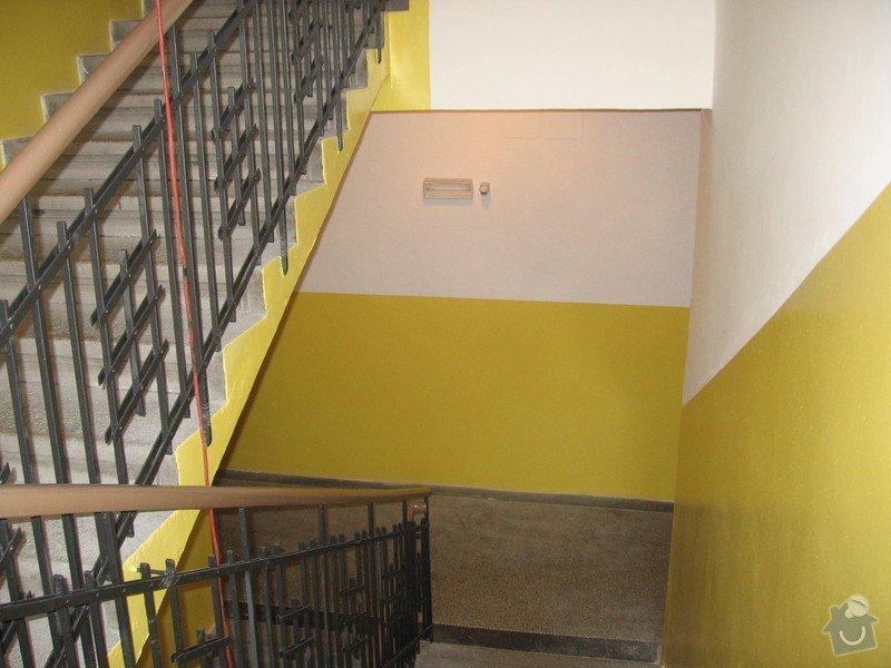 Výmalba a renovace zábradlí schodiště: 080