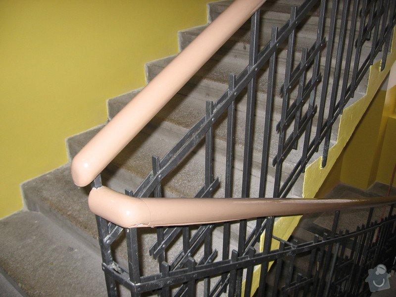 Výmalba a renovace zábradlí schodiště: 083