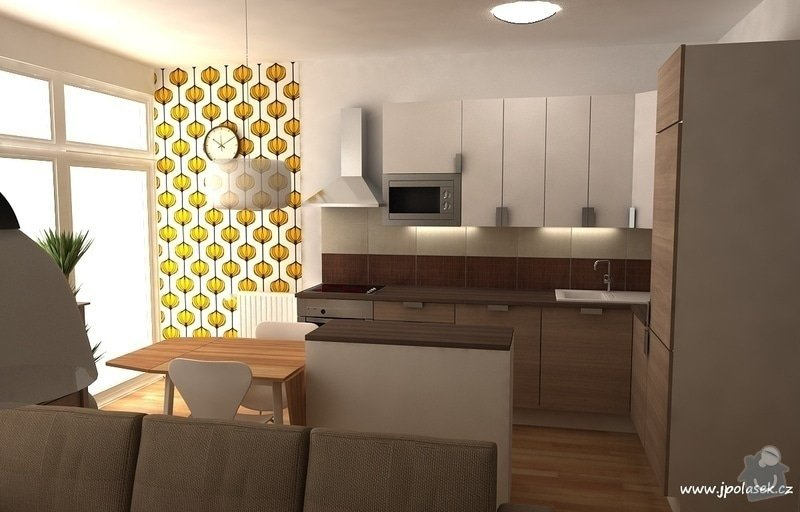 Návrh interiéru bytu 2+kk: BytO_K_02
