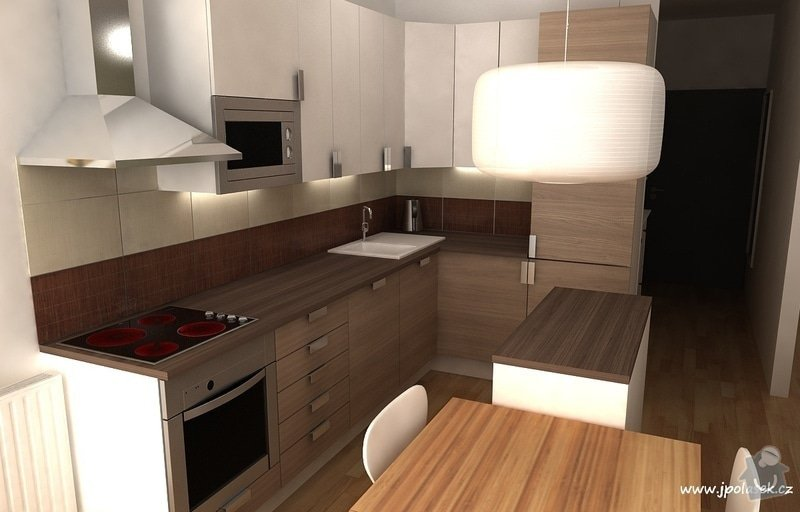 Návrh interiéru bytu 2+kk: BytO_K_09