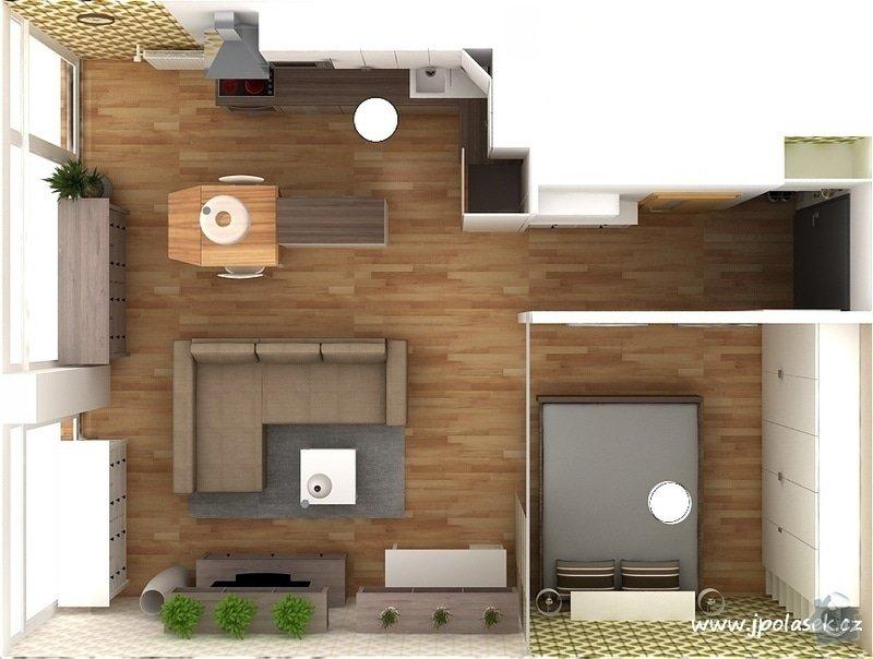 Návrh interiéru bytu 2+kk: BytO_K_11