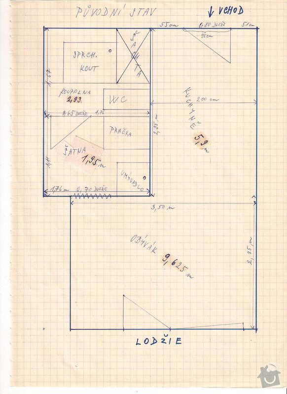 Rekonstrukce garsoniery: stavajici_stav
