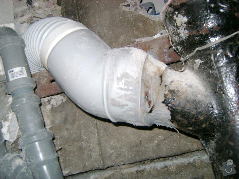 Rekonstrukce bytu: odpad_wc_REKOMAL