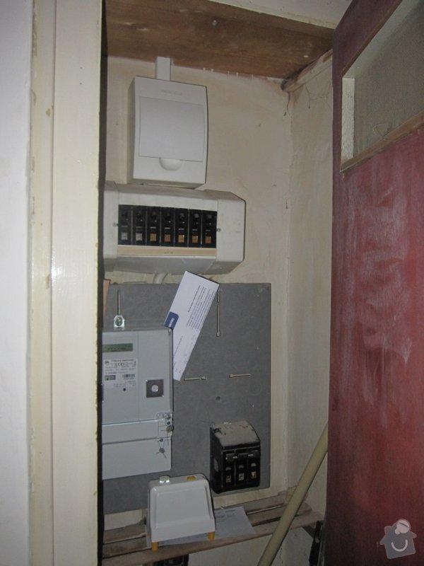 Rekonstrukce 2kk v Praze 7-nove elektrorozvody a rozvadec: rozvadec