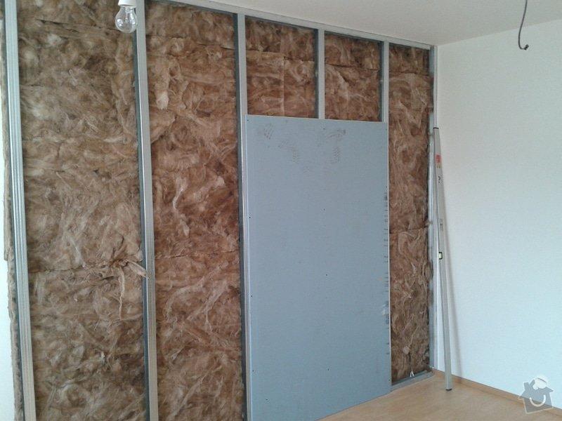 Odhlučnění stěny v zrekonstruovaném domě: Odhlucneni_Brno_1