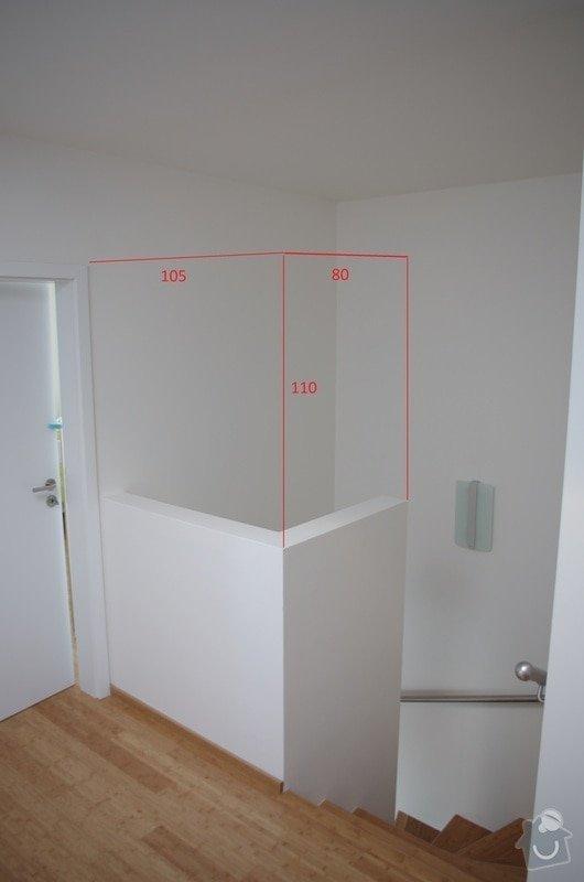 Skleněná zástěna na zídku u schodiště: IMGP3736-001