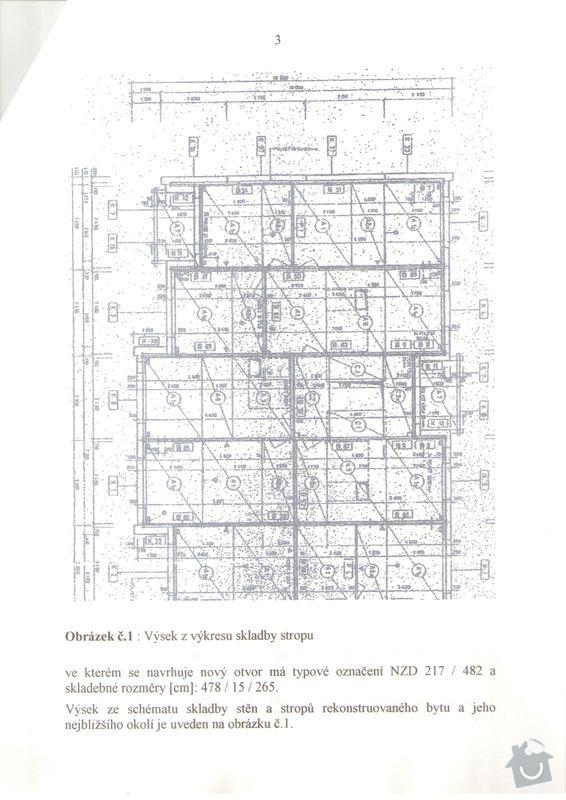 Vyříznutí části nosné zdi dle projektu (dělící zeď v panelovém 1+1 o delce cc 2,4 m) včetně instalace nosných ocelových výztuh: Technicka_zprava_2