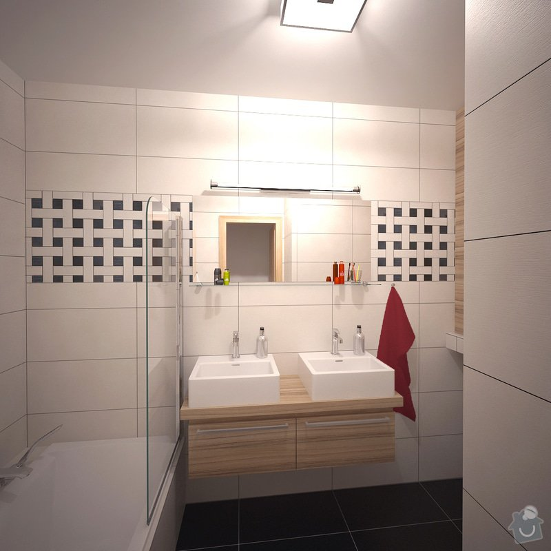 Návrh interiéru bytu, Vyškov Tyršova: 06_P