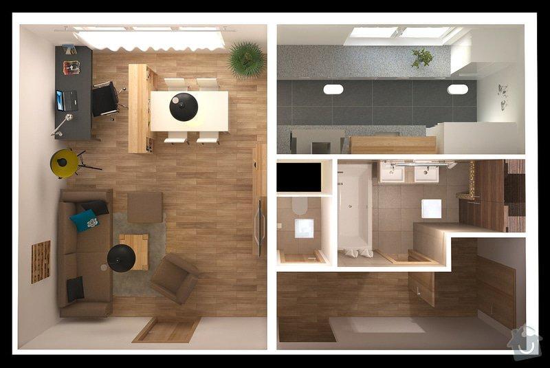 Návrh interiéru bytu, Vyškov Tyršova: SRM_20120913_top