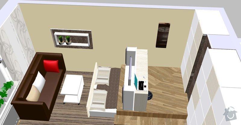 Návrh a rekonstrunkce multifunkčního pokoje a chodby: konferenci_stolek