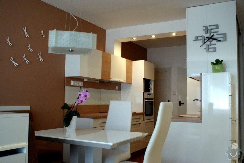 Návrh a rekonstrukce kuchyně, jídelního koutu a obýváku: Kuchyn