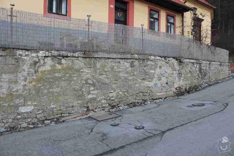Rekonstrukce opěrné zdi: IMG_4629