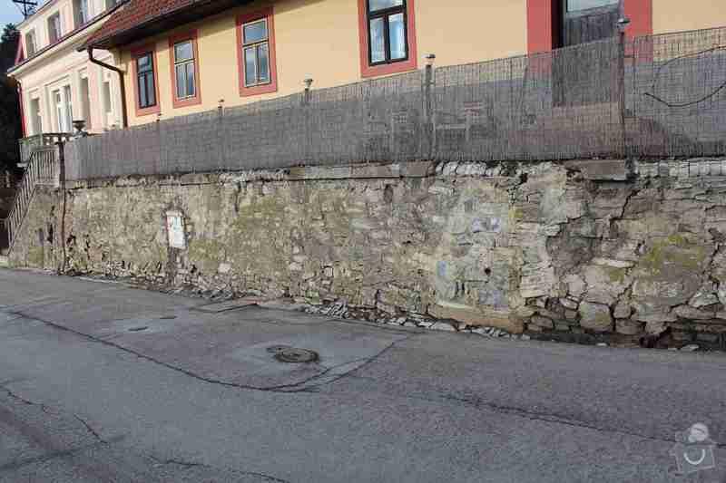 Rekonstrukce opěrné zdi: IMG_4627