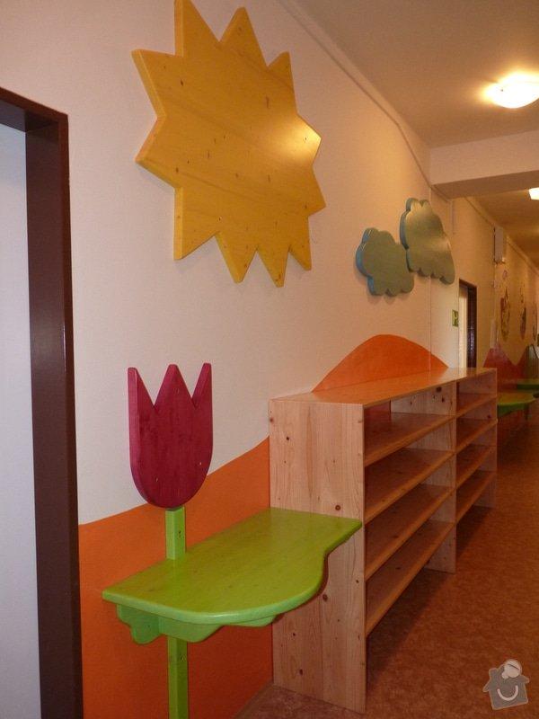 Návrh a realizace obložení a vybavení nábytkem chodby MŠ: 1