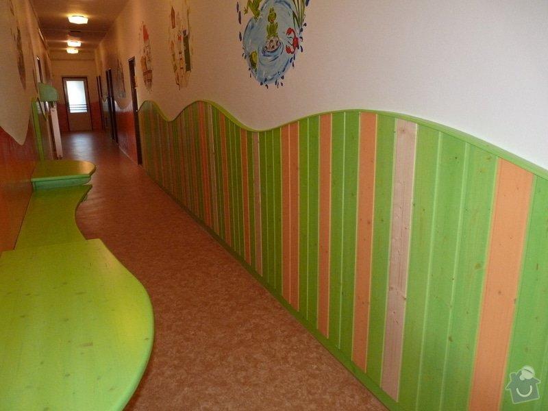 Návrh a realizace obložení a vybavení nábytkem chodby MŠ: P1020494