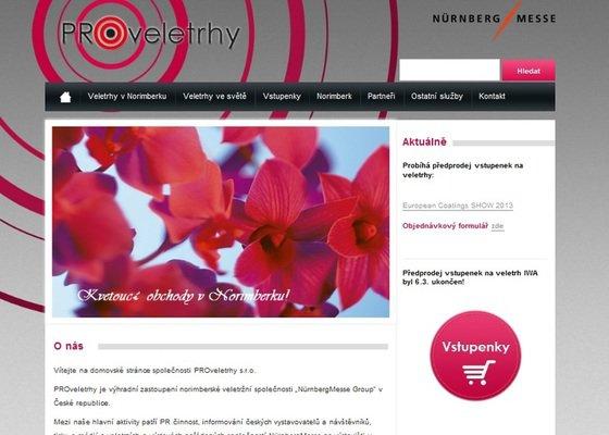 Tvorba webových stránek Proveletrhy s.r.o.