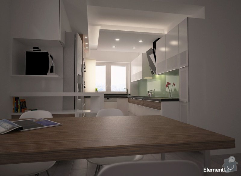 Návrh interieru rodinného domu, Vyškov: Kuch2_V2