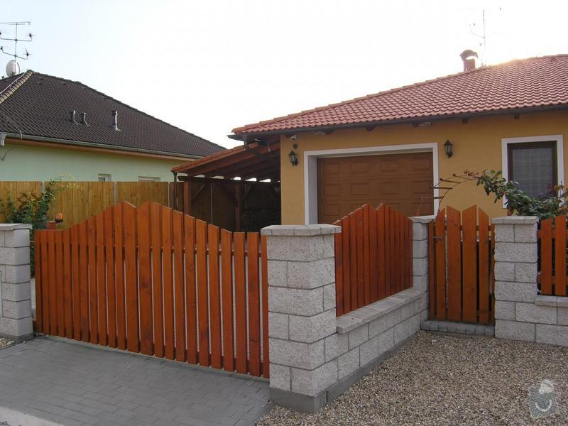 Výplň plotu, branka, brána dvoukřídlá: plot