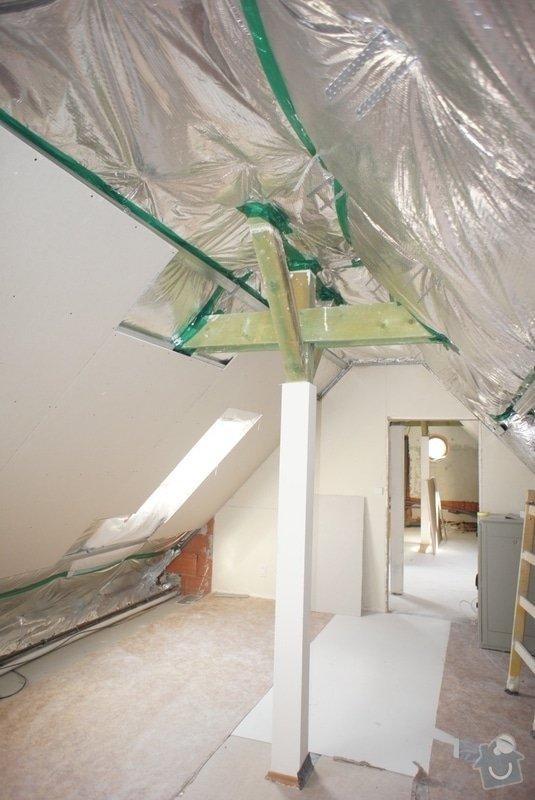 Rekonstrukce koupelny, malířské práce, sádrokartonové podkroví: izolace_DAPE_Polar_