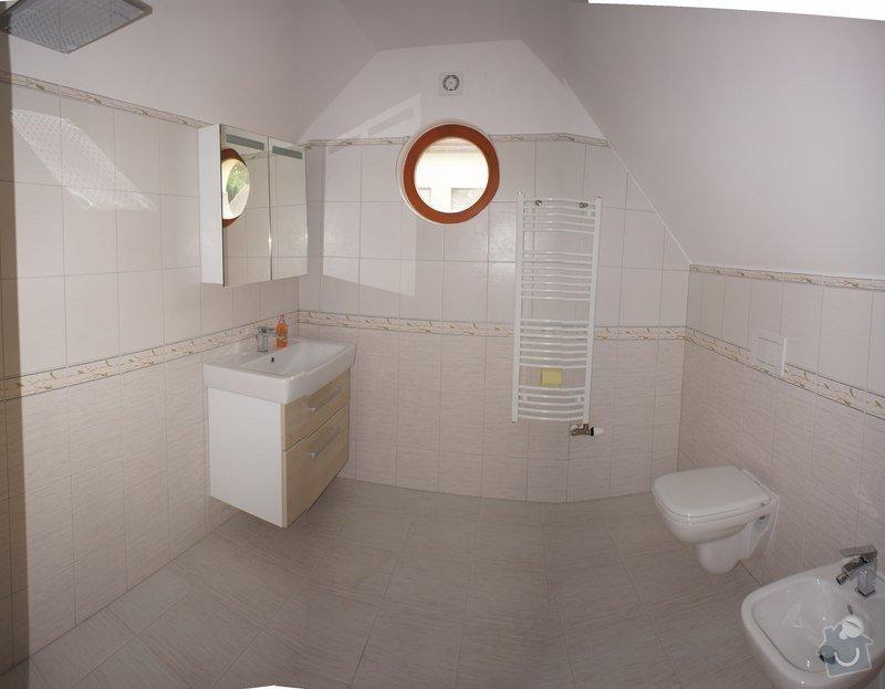 Rekonstrukce koupelny, malířské práce, sádrokartonové podkroví: koupelna