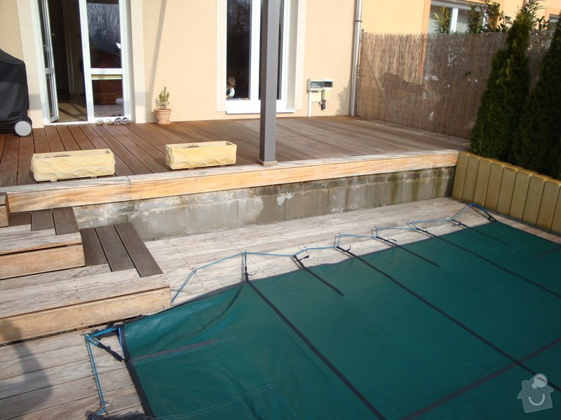 Obložení terasy dřevem: DSC00803