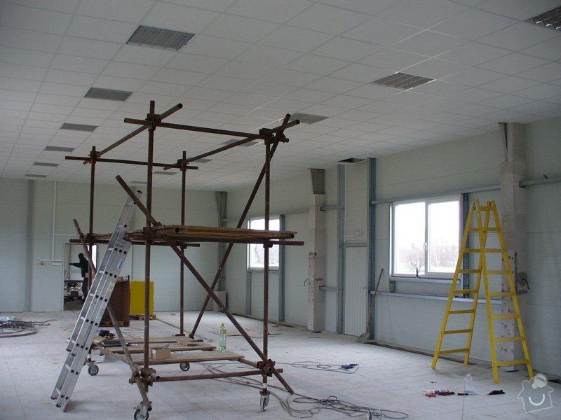 Výstavba příček,kazetové podhledy v Novém Bydžově: Novy_Bydzov_Distar_hala_1