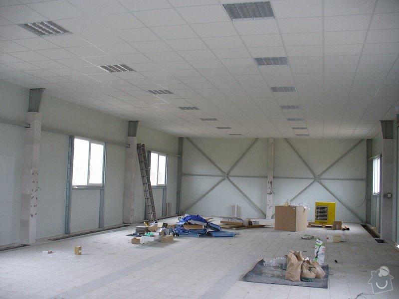 Výstavba příček,kazetové podhledy v Novém Bydžově: Novy_Bydzov_Distar_hala