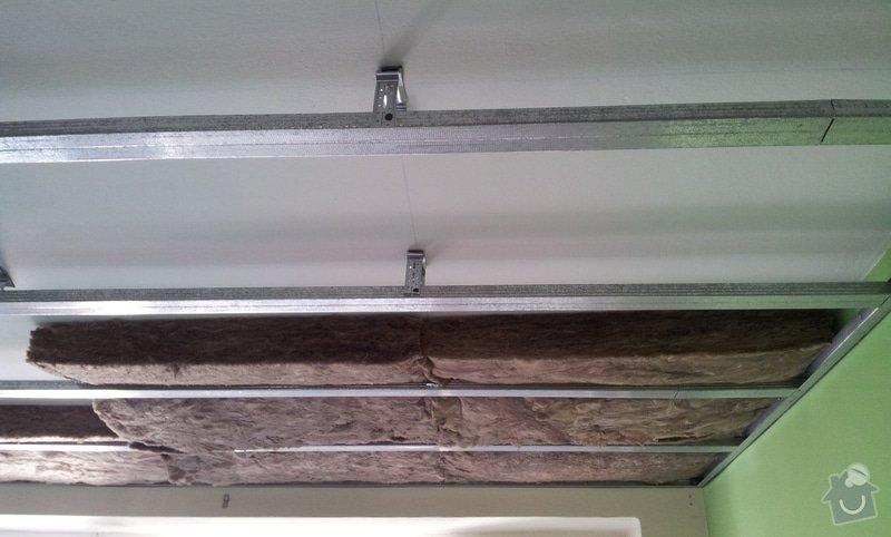Odhlučnenie stropov v tehlovom byte Čelákovice: 20130304_113751