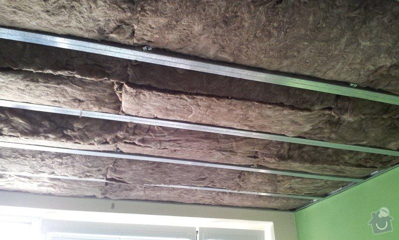 Odhlučnenie stropov v tehlovom byte Čelákovice: 20130304_115843