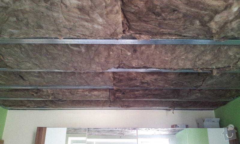Odhlučnenie stropov v tehlovom byte Čelákovice: 20130304_120129