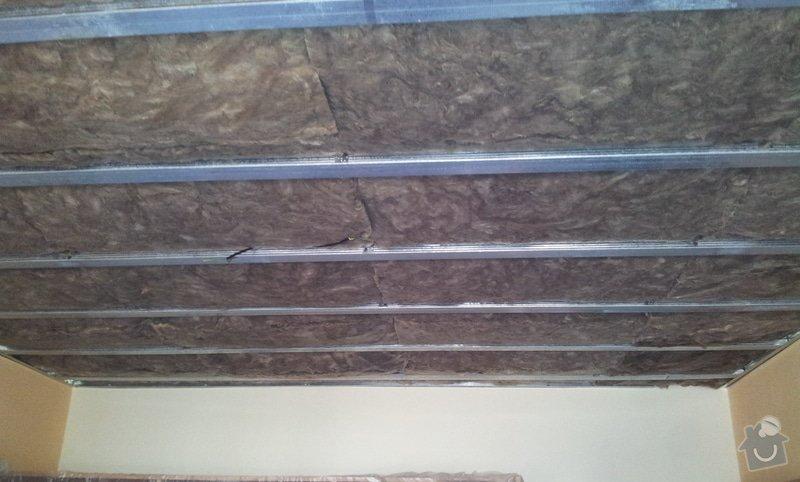 Odhlučnenie stropov v tehlovom byte Čelákovice: 20130305_133841