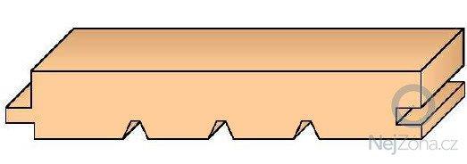 Dodání podlahových palubek AB tloušťky 28, nebo 32 mm.: palubka