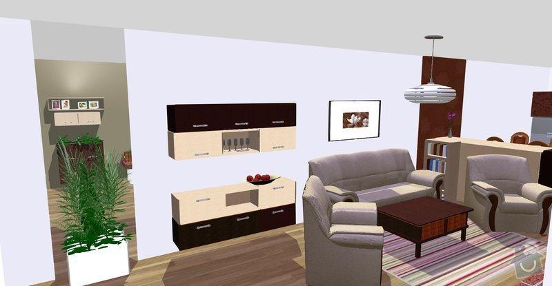 Návrh a vizualizace interiéru RD: se_zrcadlem