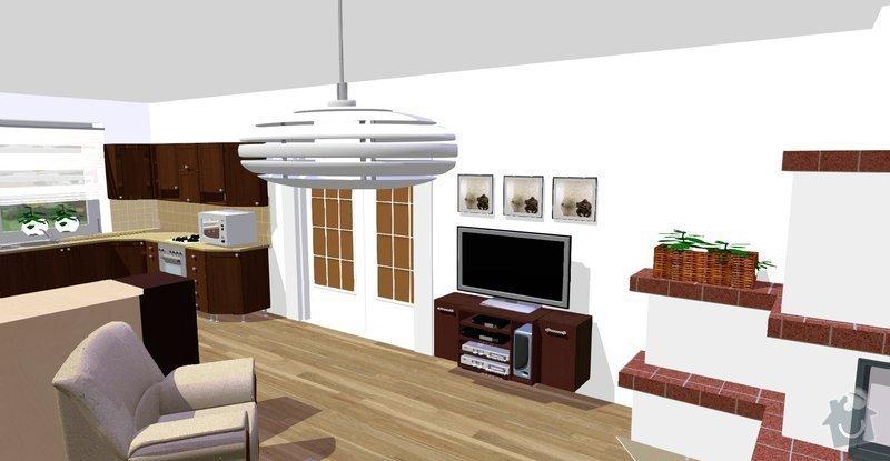 Návrh a vizualizace interiéru RD: Vicenikova_nove_tv