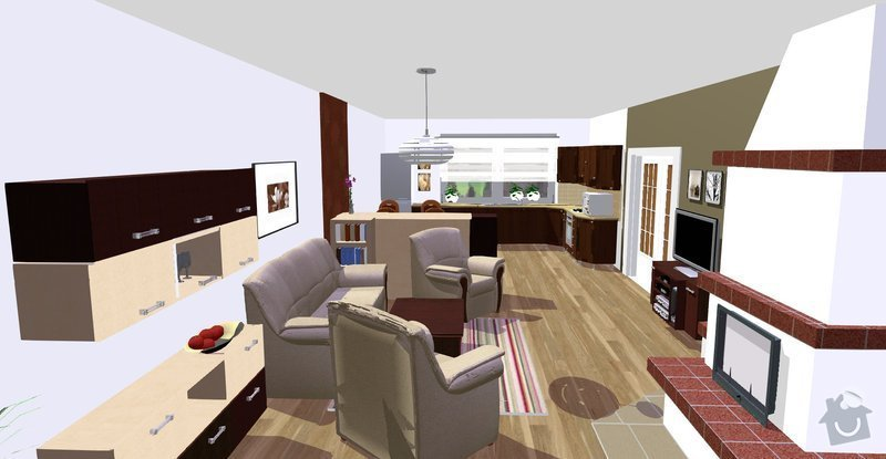 Návrh a vizualizace interiéru RD: Vicenikova_nove_ze_zahrady