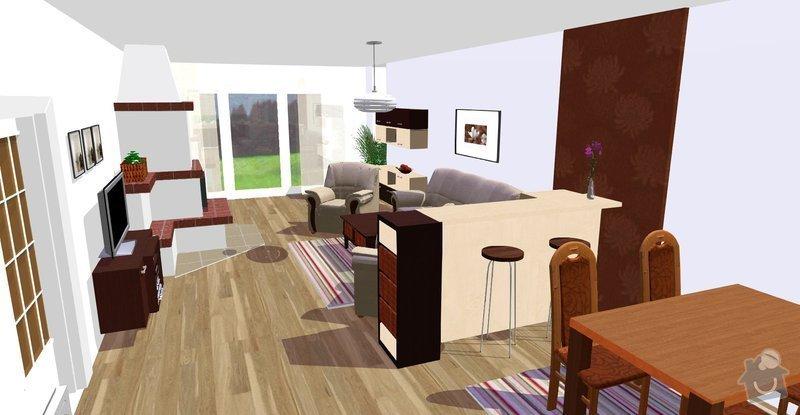 Návrh a vizualizace interiéru RD: Vicenikova_nove_z_kuchyne