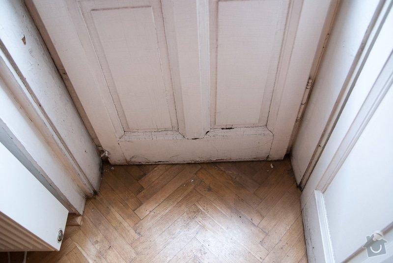Oprava špaletových oken: Dvere_obyvak1