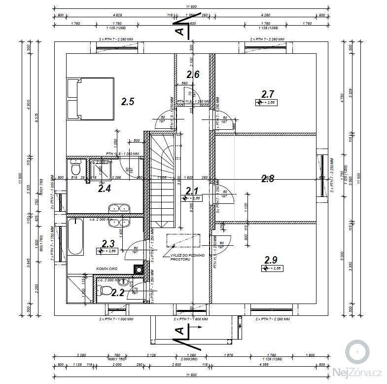 Zedník pro vyzdění hrubé stavby RD: 2NP