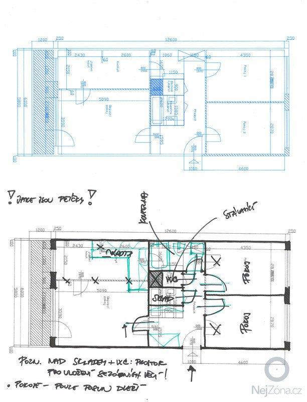Rekonstrukce panelového bytu: byt