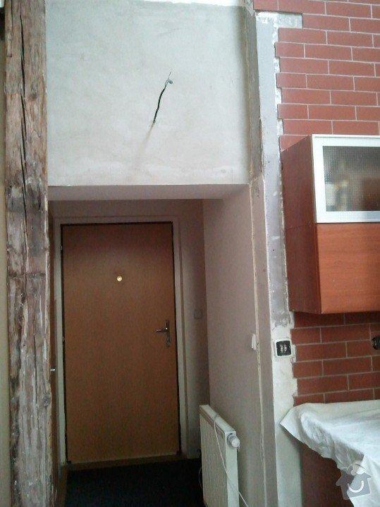 Odstranění dveří v sádrokartonové předsadbě a designová úprava - půdní vestavba: pred02